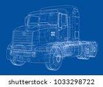 concept truck. vector rendering ... | Shutterstock .eps vector #1033298722