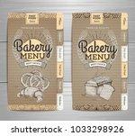 vintage bakery menu design on... | Shutterstock .eps vector #1033298926