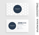 clean business card with art... | Shutterstock .eps vector #1033299862