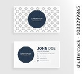 clean business card with art... | Shutterstock .eps vector #1033299865