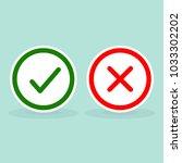 illustration of check mark and... | Shutterstock .eps vector #1033302202