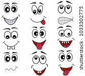cartoon mouth eyes face emotion ... | Shutterstock .eps vector #1033302775