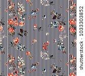 stripe all over print flower... | Shutterstock . vector #1033303852