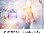 concept of personal data... | Shutterstock . vector #1033304152