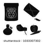the detective's badge  the... | Shutterstock .eps vector #1033307302