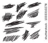 scribble brush strokes set ... | Shutterstock .eps vector #1033310278