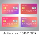 realistic detailed credit cards ... | Shutterstock .eps vector #1033310305
