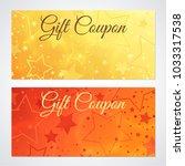 gift certificate  voucher ... | Shutterstock . vector #1033317538