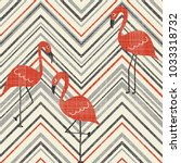 seamless vintage striped... | Shutterstock .eps vector #1033318732