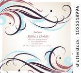elegant floral background with... | Shutterstock .eps vector #1033318996