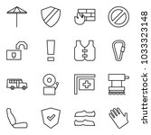 flat vector icon set   umbrella ... | Shutterstock .eps vector #1033323148