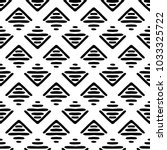 black and white seamless ethnic ... | Shutterstock .eps vector #1033325722