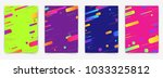 abstract geometric pattern... | Shutterstock .eps vector #1033325812