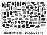 collection of paint brush... | Shutterstock .eps vector #1033328578