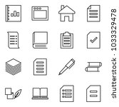flat vector icon set   annual... | Shutterstock .eps vector #1033329478