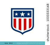 shield emblem sport team icon... | Shutterstock .eps vector #1033333168