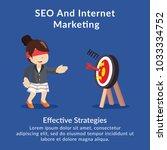 seo and internet marketing... | Shutterstock .eps vector #1033334752