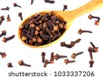 cloves. dry clove isolated on... | Shutterstock . vector #1033337206