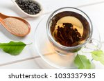morning tea on the table | Shutterstock . vector #1033337935