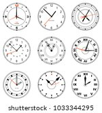 set of editable clock icons.... | Shutterstock .eps vector #1033344295