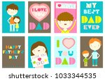 happy father's day greeting... | Shutterstock .eps vector #1033344535