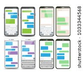 mobile screen messaging set....