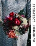 boho wedding bouquet    Shutterstock . vector #1033345156