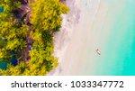 beautiful aerial view island... | Shutterstock . vector #1033347772