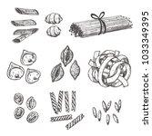 pasta set for your design....   Shutterstock .eps vector #1033349395