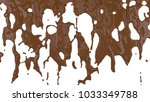 flowing molten chocolate. 3d... | Shutterstock . vector #1033349788