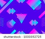 memphis seamless pattern.... | Shutterstock .eps vector #1033352725