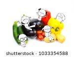 happy fun kids and children... | Shutterstock . vector #1033354588
