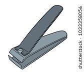 vector of nail clipper | Shutterstock .eps vector #1033358056