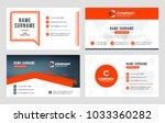 set of 4 business card... | Shutterstock .eps vector #1033360282