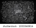 set of drawings on the theme... | Shutterstock .eps vector #1033360816