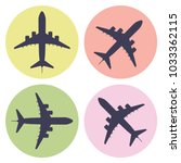 set of airplane icons. vector... | Shutterstock .eps vector #1033362115