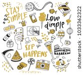 various object in doodle style | Shutterstock .eps vector #1033362322
