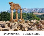 temple of dioscuri  castor and...   Shutterstock . vector #1033362388