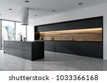 side view of a panoramic black... | Shutterstock . vector #1033366168