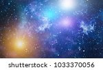 stars of a planet and galaxy in ... | Shutterstock . vector #1033370056