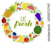vector illustration of fruits... | Shutterstock .eps vector #1033371745