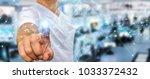 businessman on blurred... | Shutterstock . vector #1033372432