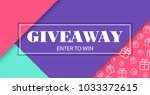 giveaway. enter to win. vector... | Shutterstock .eps vector #1033372615