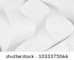 abstract grey 3d curved waves... | Shutterstock .eps vector #1033375066