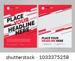 flyer design sports invitation... | Shutterstock .eps vector #1033375258