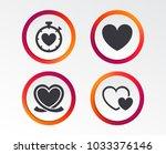 heart ribbon icon. timer...   Shutterstock .eps vector #1033376146