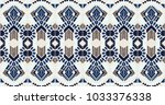 ikat geometric folklore... | Shutterstock .eps vector #1033376338