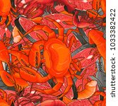 seafood illustrations in the... | Shutterstock .eps vector #1033382422