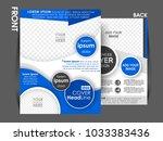 business brochure. flyer design.... | Shutterstock .eps vector #1033383436