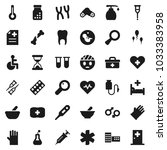 flat vector icon set   liquid... | Shutterstock .eps vector #1033383958